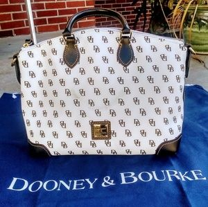 Dooney and Bourke Saffiano leather satchel handbag